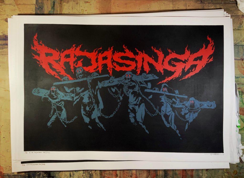 "#np RAJASINGA ""PENJARA"" on Screen Printing Poster"